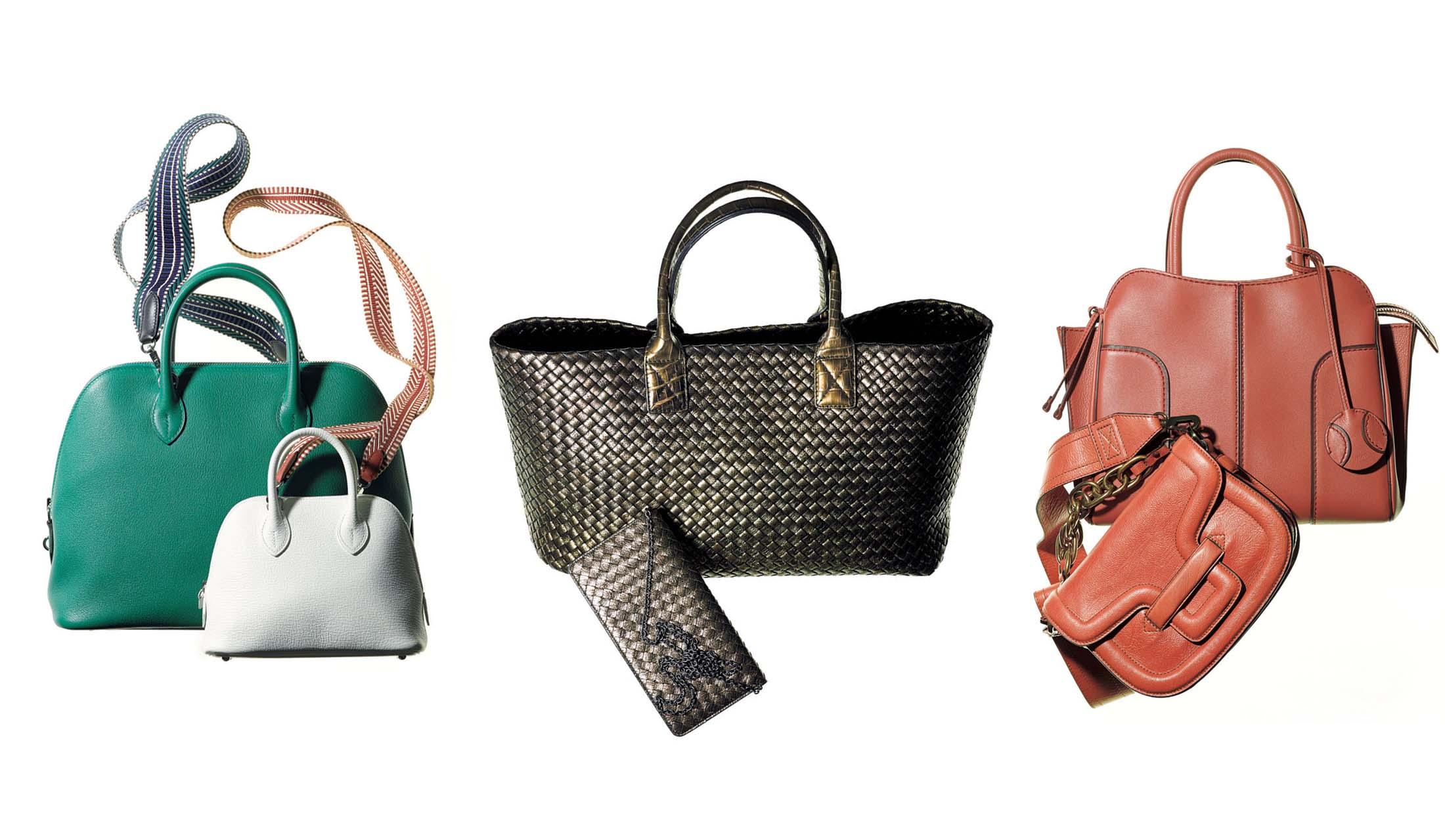 エルメスのバッグ用ストラップ『バンドリエール』、ボッテガ・ヴェネタの『カバ』、トッズとピエール アルディの「タンカラー」バッグ