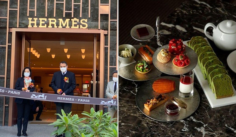 「HERMÈS(エルメス)」表参道店、パレスホテル東京のアフタヌーンティー