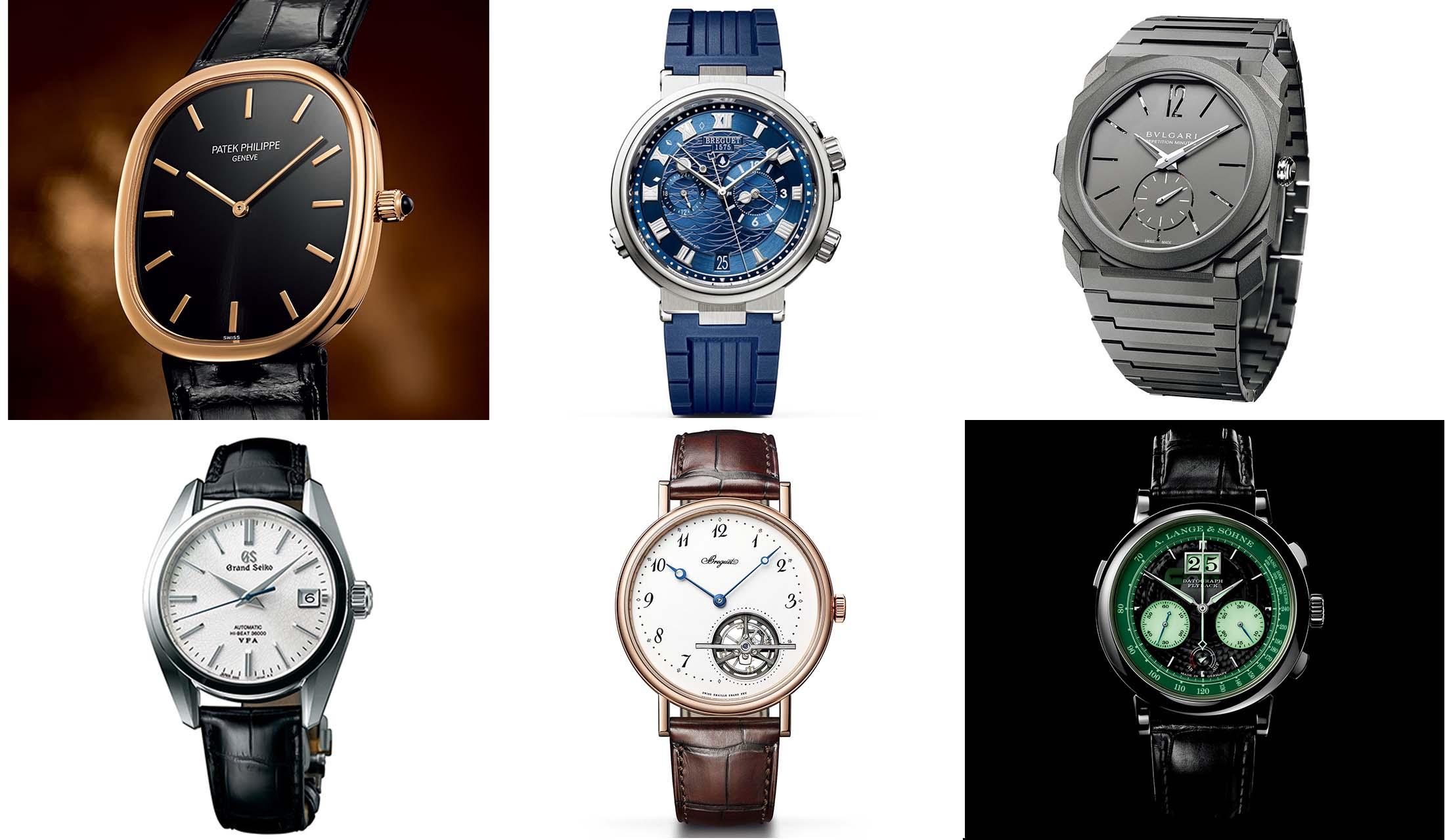 シャネル、ブレゲ、ブルガリ、グランドセイコー、パテック フィリップ、A.ランゲ&ゾーネの時計