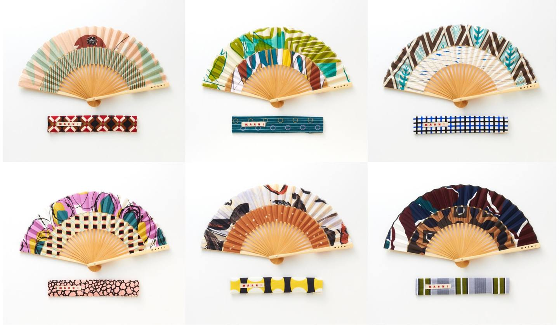 マルニ マーケットの新作扇子「FOLDING FAN COLLECTION(フォールディング・ファン・コレクション)」