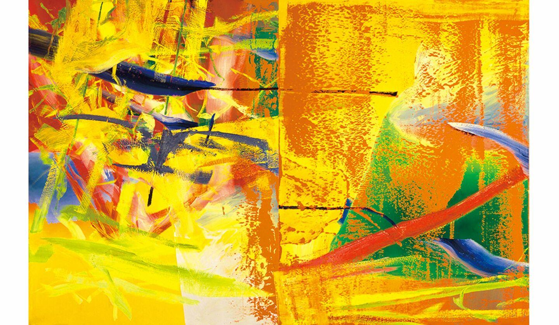 ゲルハルト・リヒター《オランジェリー》1982年 油彩、カンヴァス 260.0×400.0cm富山県美術館蔵 © Gerhard Richter 2020(16062020)