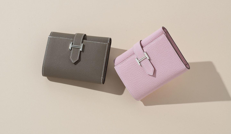 エルメスの「べアン」の最新三つ折り財布