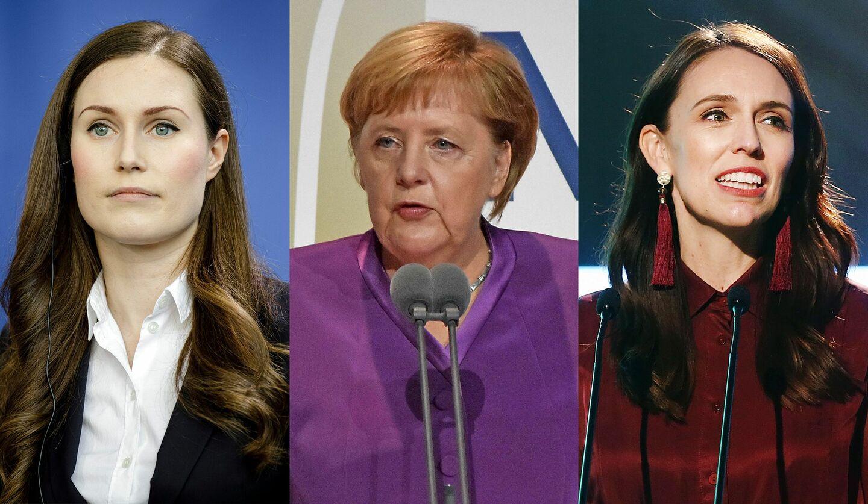 新型コロナウイルスに立ち向かう世界の3人の女性元首の写真