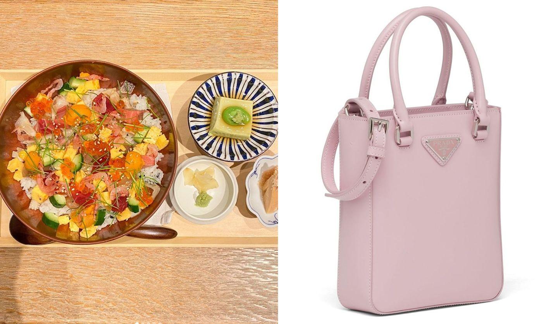 ちらし寿司ランチメニューとプラダの新作バッグ