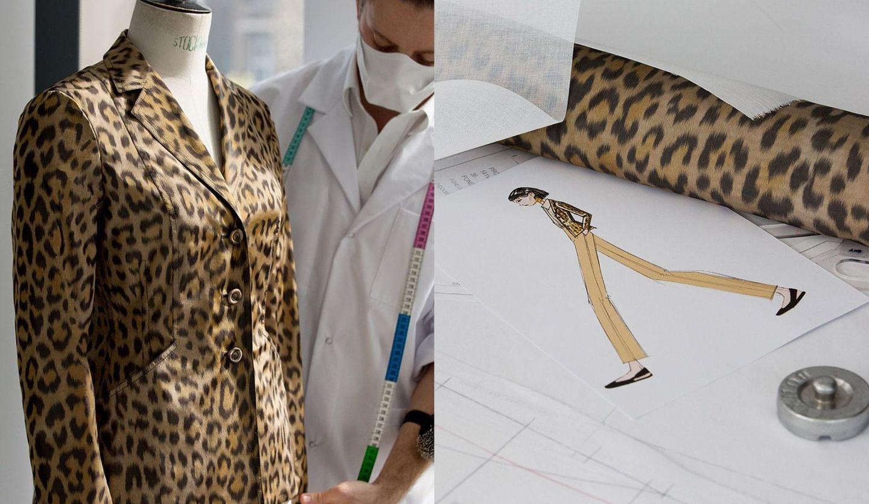 ディオール2021フォールコレクションよりレオパードプリントのバージャケット