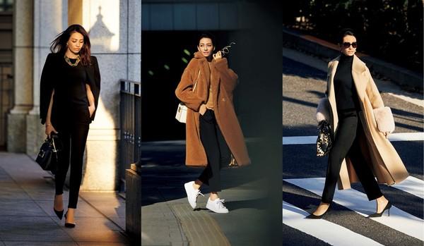 かっこいい女は「黒のスティックパンツ」!×冬アウターの着こなし実例6選