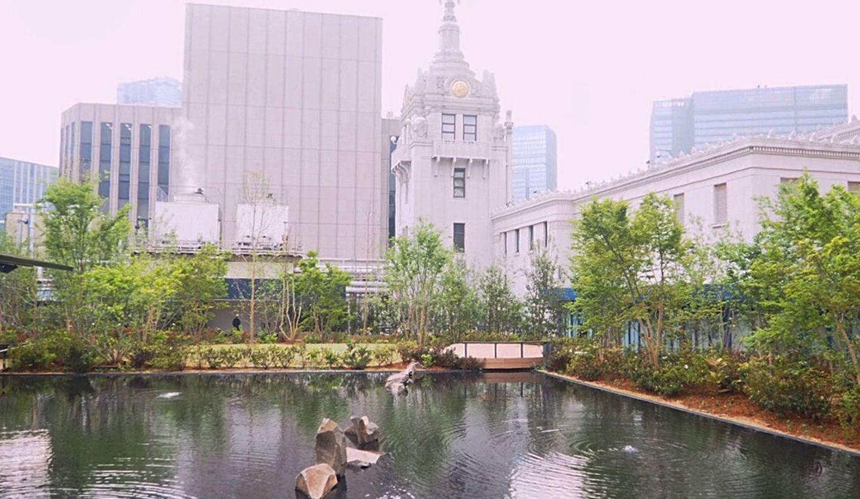 日本橋三越本店の本館屋上「日本橋庭園」