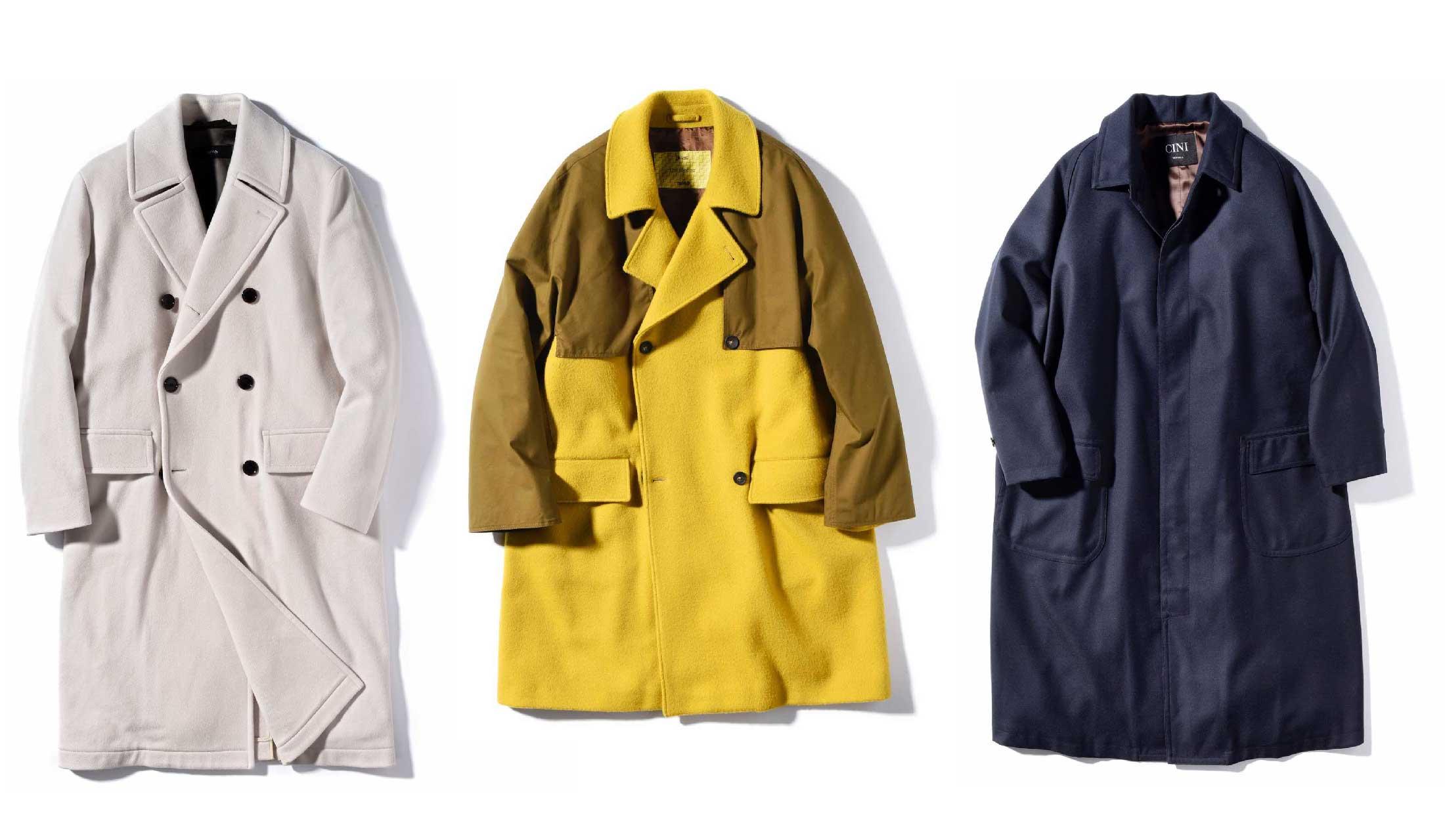 チーニ、ボス、ヘルノのオーバーサイズコート