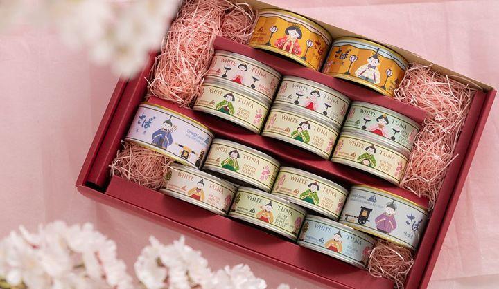 オーシャンプリンセス ひな祭り贅沢缶詰セット15缶セット(ツナ缶、さば缶)