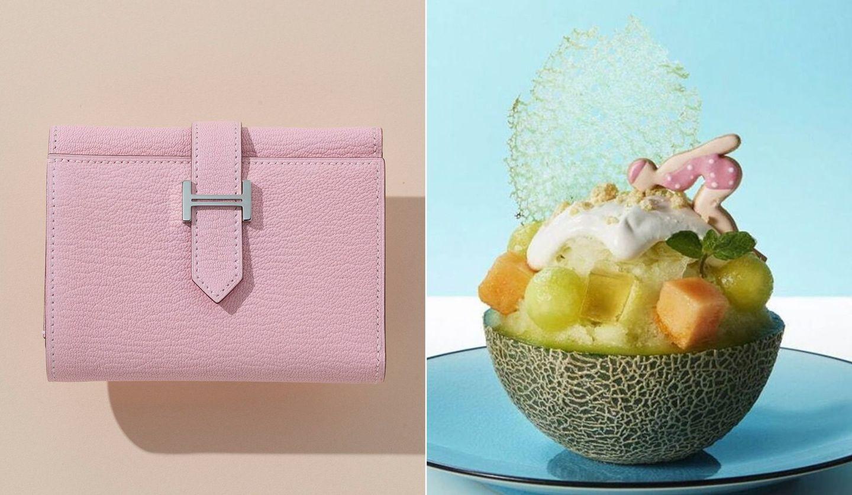 「エルメス」の『べアン』シリーズの三つ折り財布、かき氷