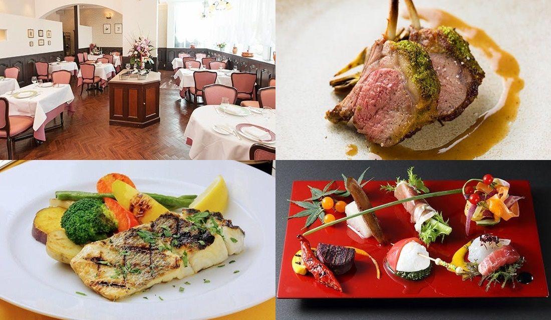 お料理とレストランの内観写真4枚