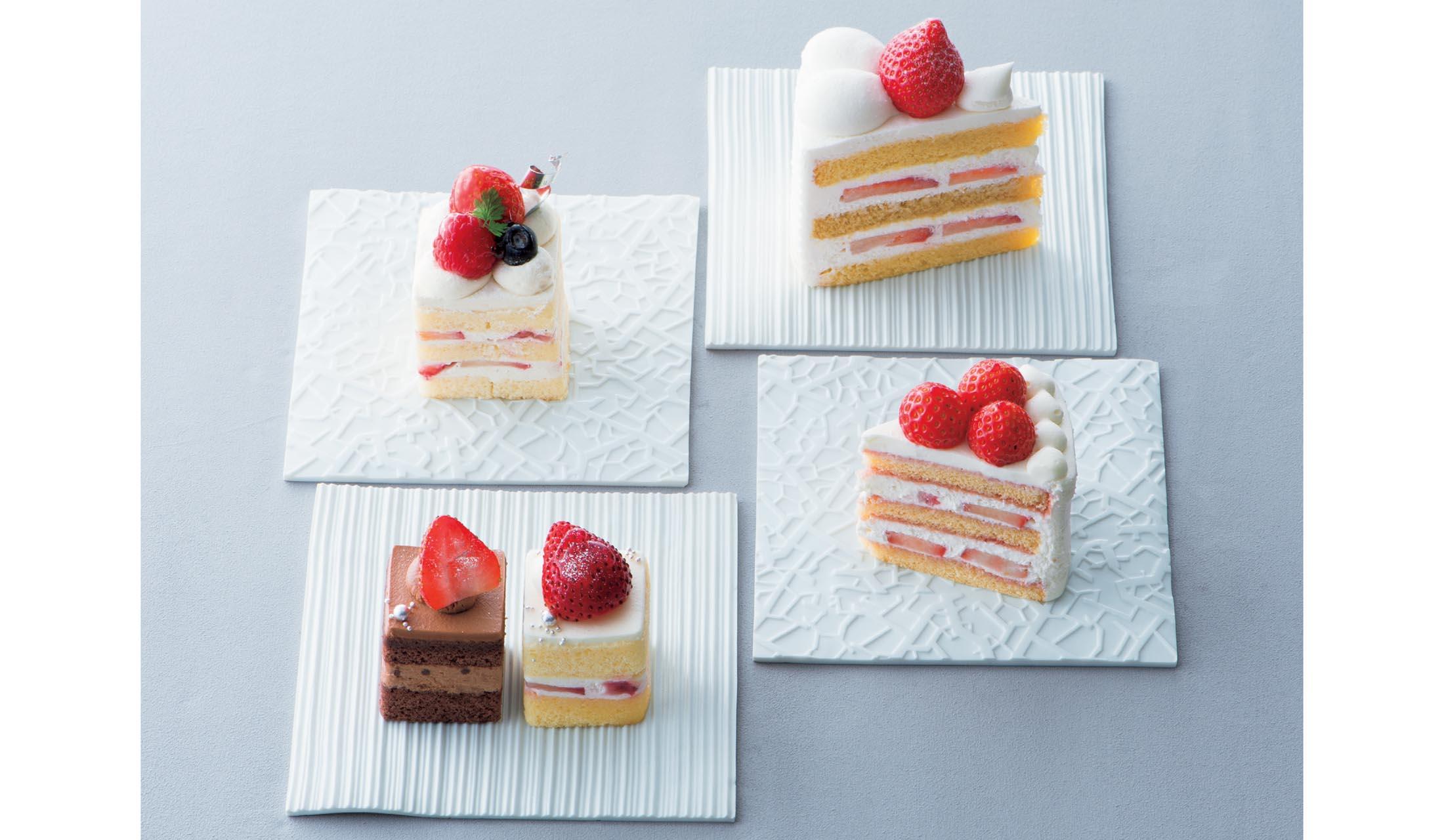 トシヨロイヅカの『MTフレーズ』、 ボン スイーツ&コングラッツの『キャレケーキ』、フレンチパウンドハウスの『苺ショートケーキ・ブラン』、パティスリーSATSUKIの『スーパーショートケーキ』