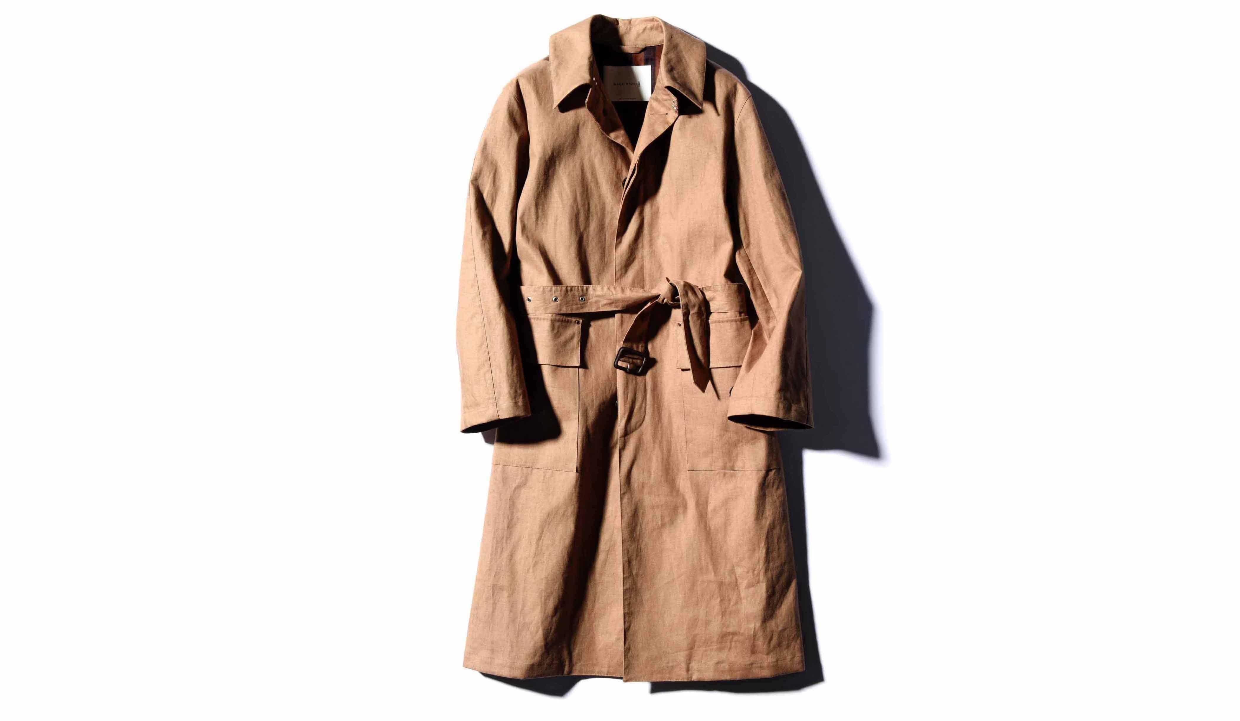 マッキントッシュのベルテッドコート「タイン」