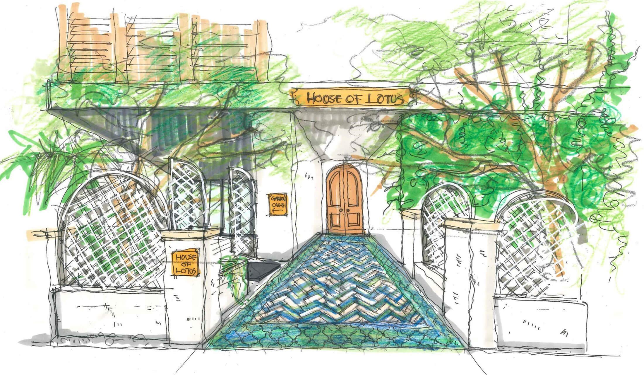 ハウス オブ ロータス(HOUSE OF LOTUS)青山店のエントランスイメージ