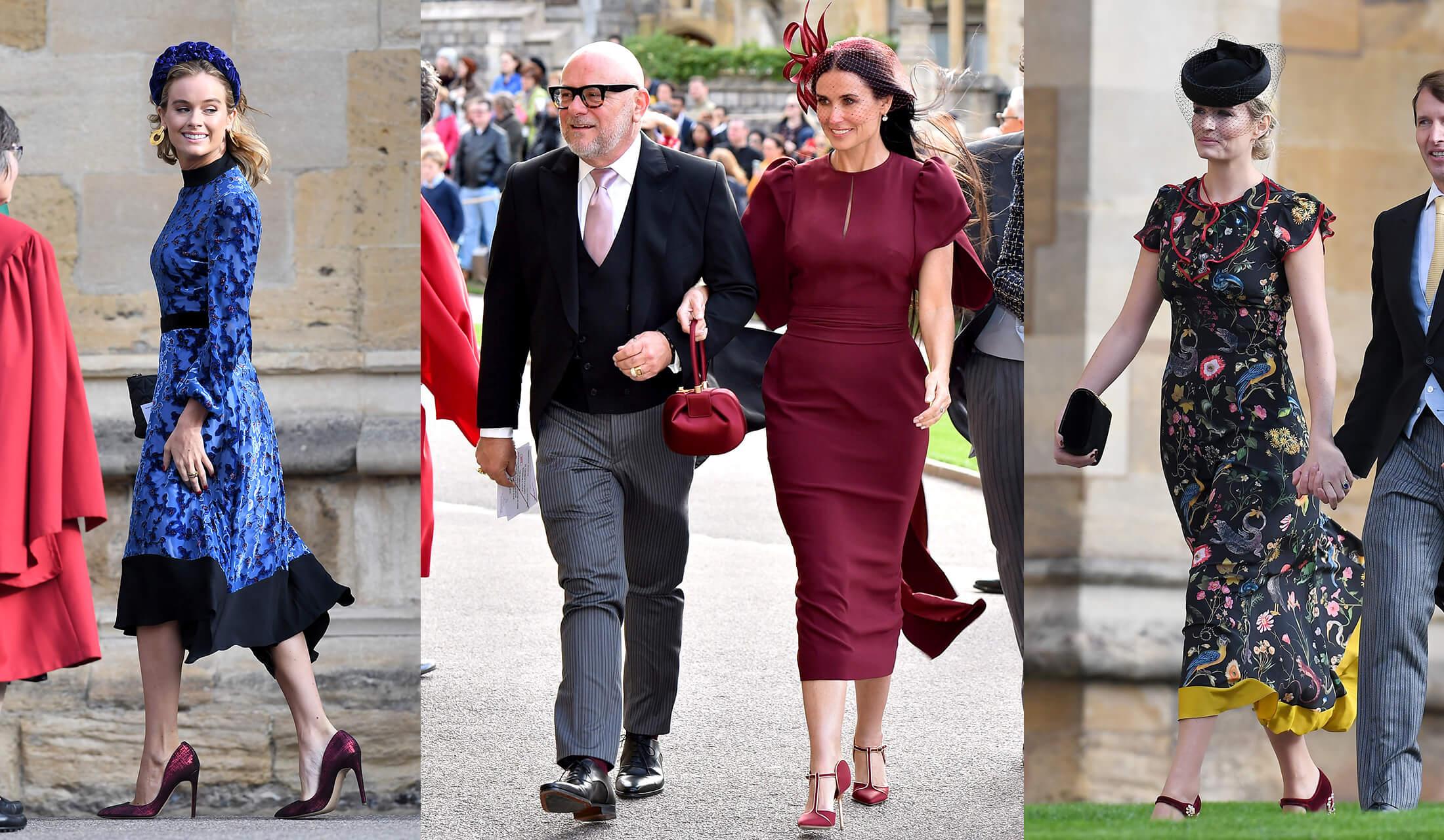 ユージェニー王女の結婚式に参列する海外セレブたちのスナップ写真
