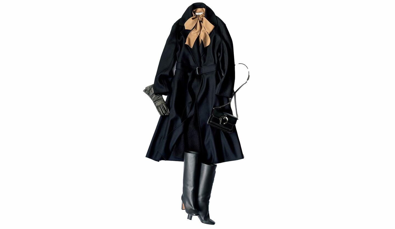 ブラミンクのブラックコートを用いたコーデ