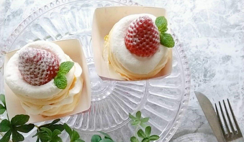 ミホパンポップケーキの「いちごのパブロバ『ストロベリーキャンドル』」