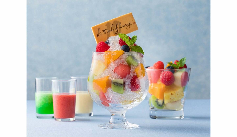 ザ・キャピトルホテル 東急「ORIGAMI」の「ORIGAMIかき氷 フルーツ10」