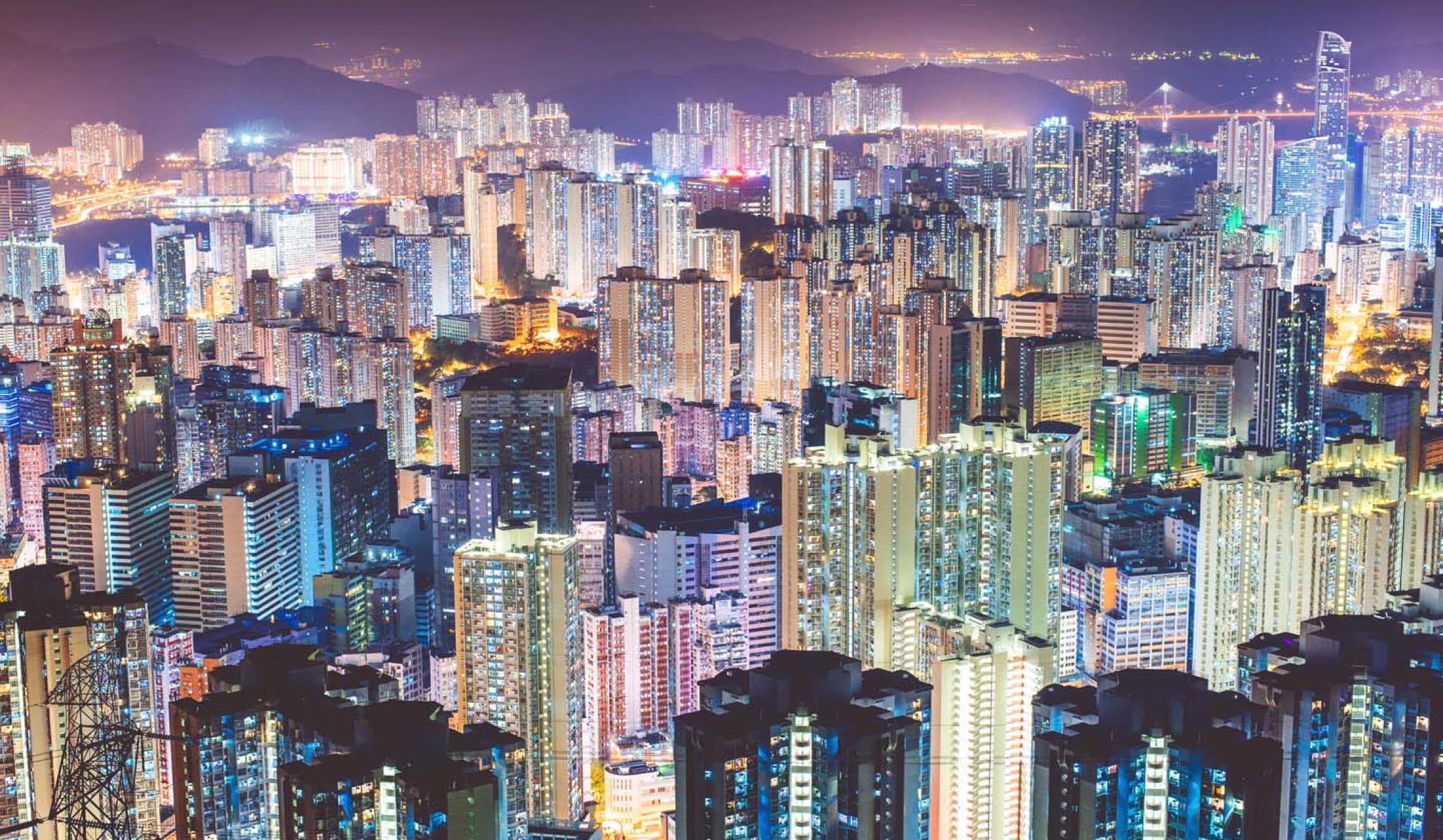 香港の街中写真