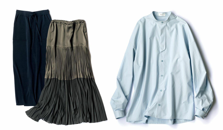 日本ブランドのスカートとシャツ
