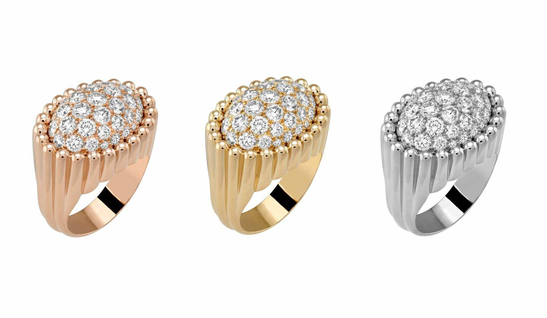 ダイヤモンドを敷き詰めたヴァン クリーフ&アーペルの新作リング