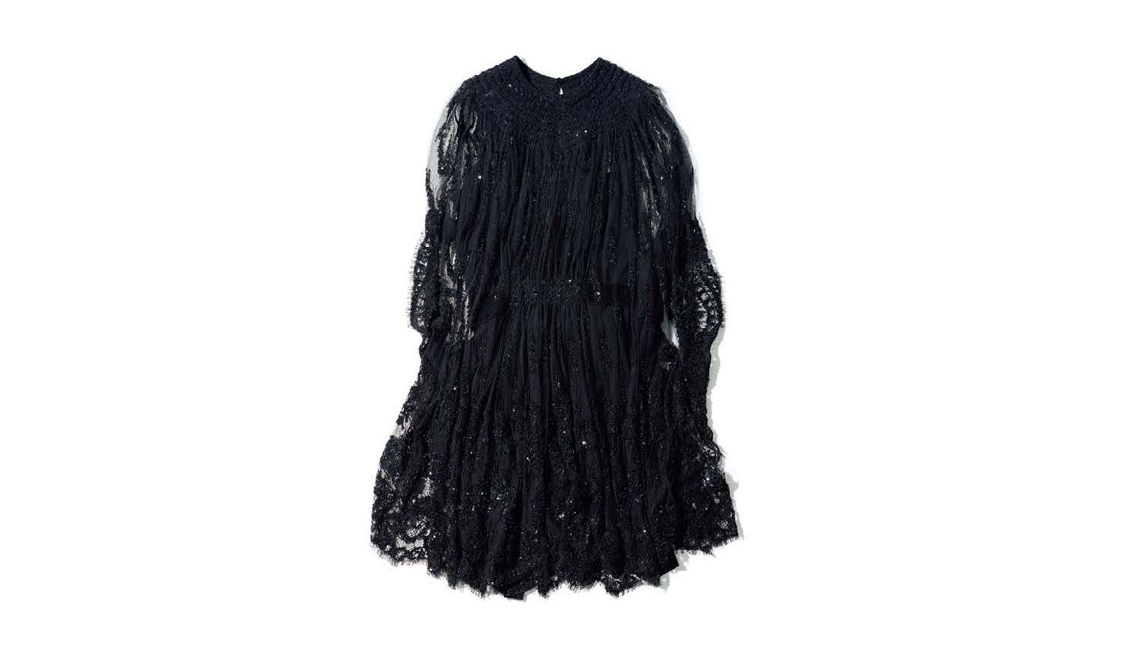 ヴァレンティノのビーズ刺しゅうのドレス