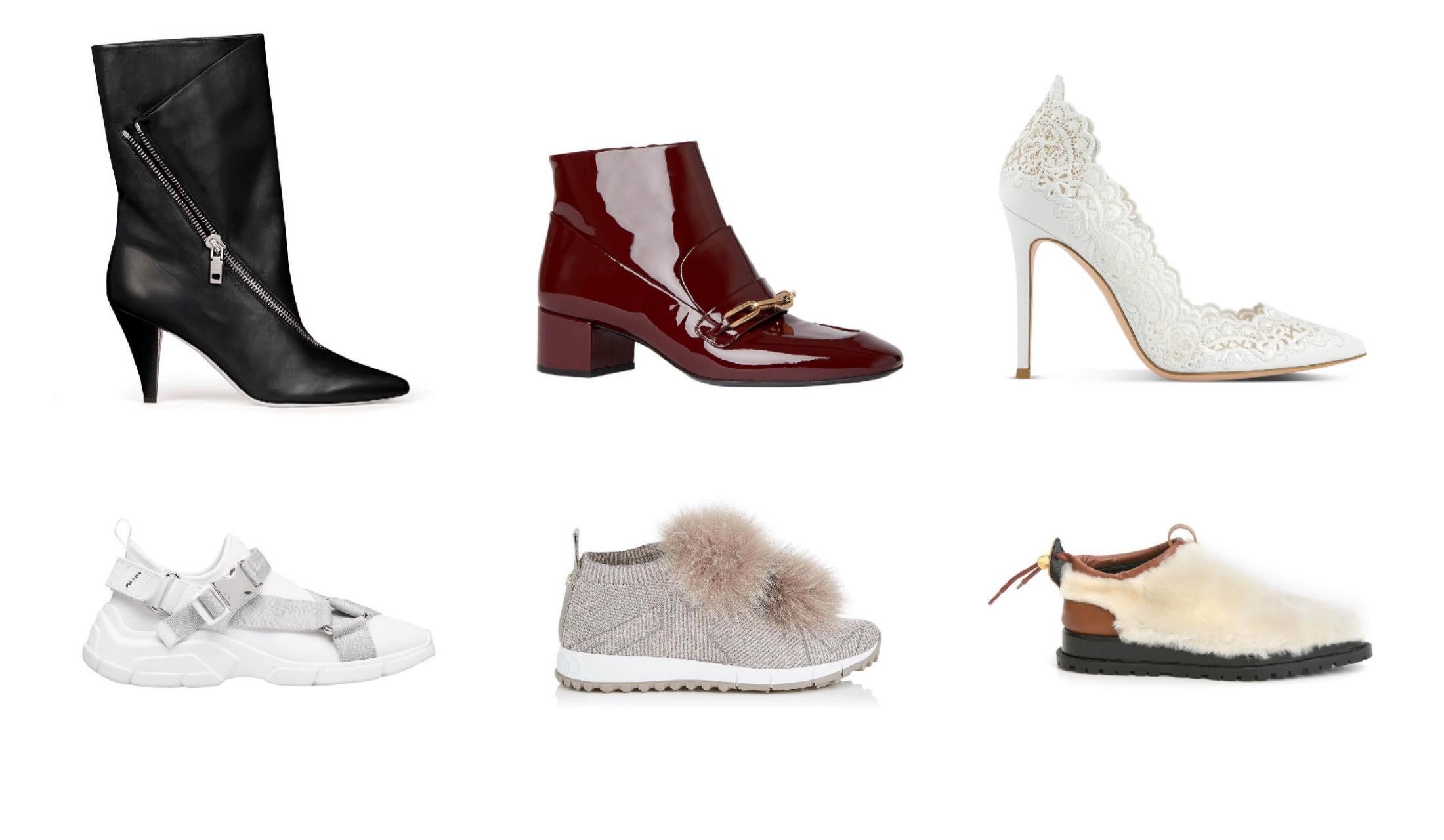 スニーカーやパンプス、ブーツなど2018年秋の靴の新作写真6点