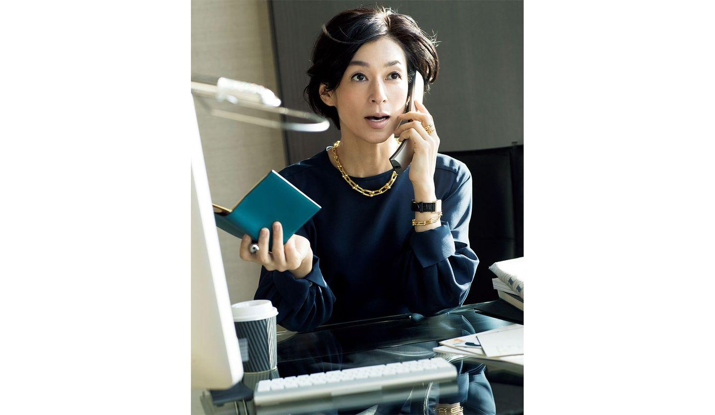 鈴木保奈美さん演じる「幸村チカ」の3月4日(水)のコーディネート