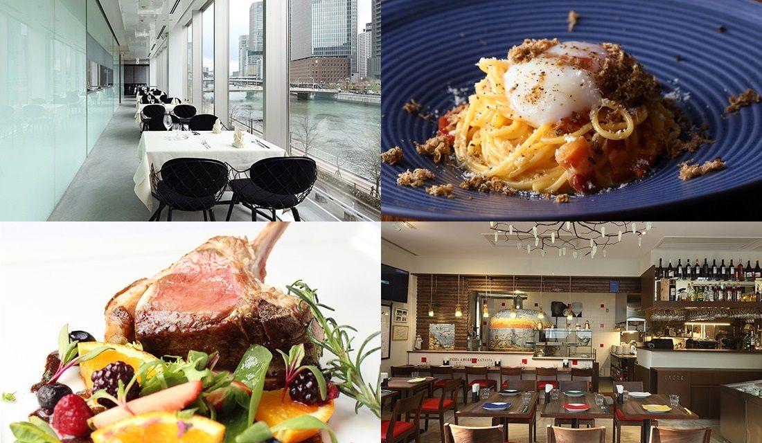 大阪のイタリアンレストランの内観やメニュー