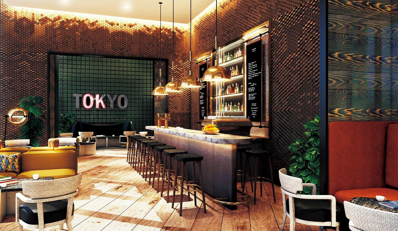 ホテル「キンプトン新宿東京」のカフェ&バー