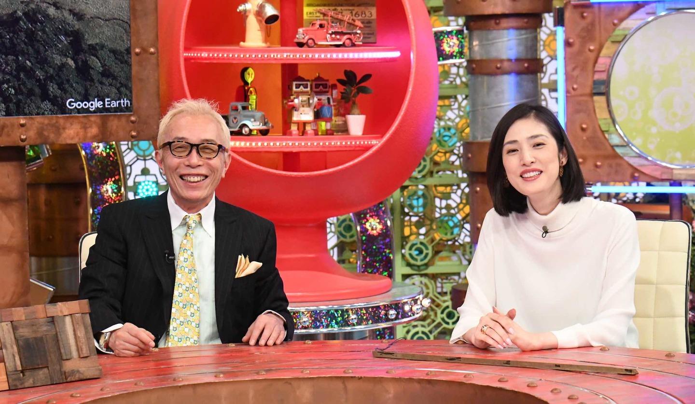 ポツンと一軒家所ジョージさんと天海祐希さん ©ABCテレビ