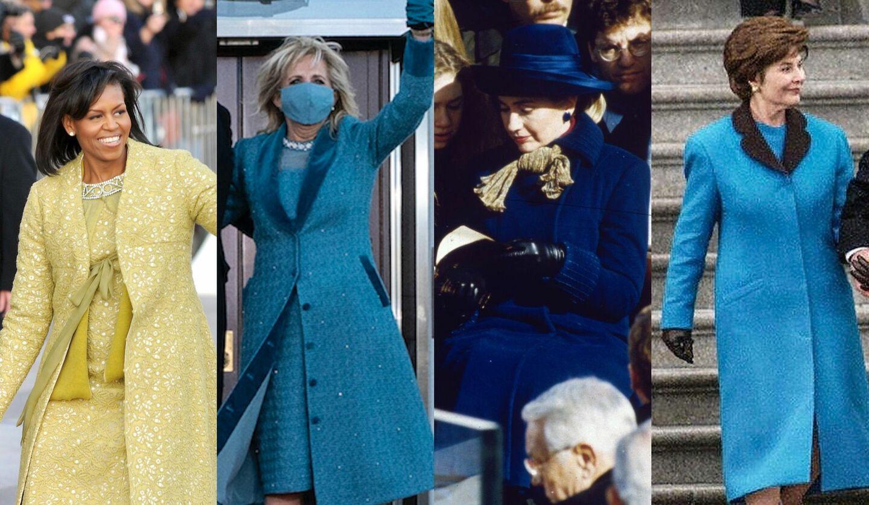 歴代のファーストレディたちの大統領就任式のコートスタイル
