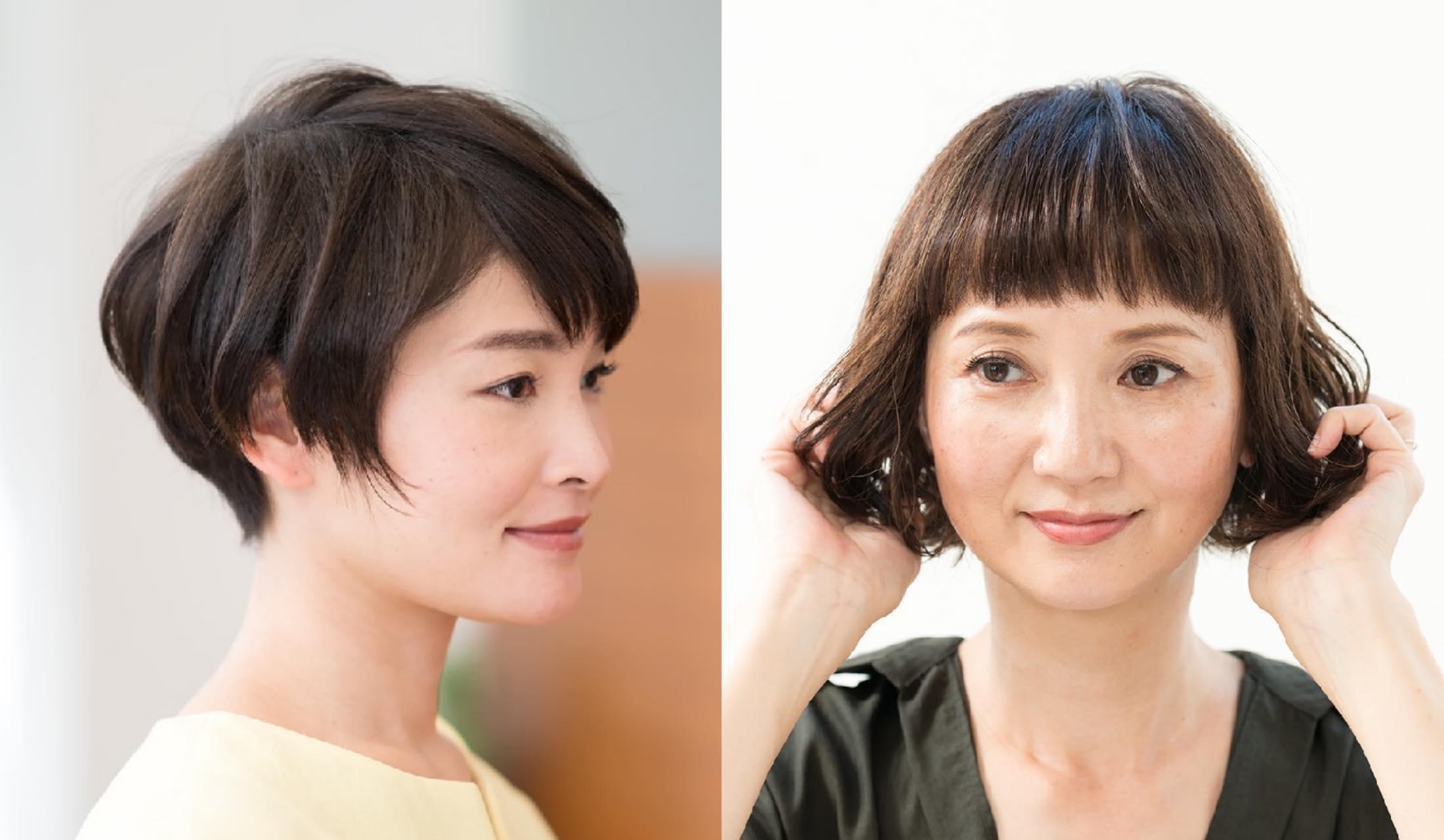 ショートヘアの女性2名