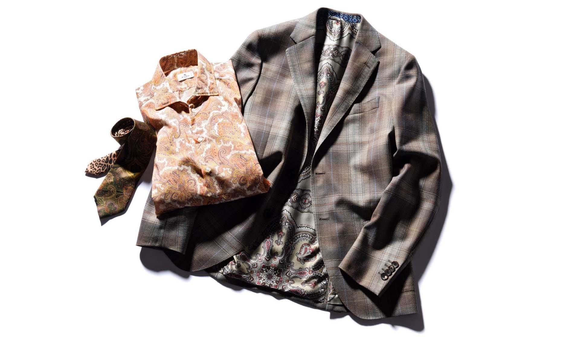 エトロのスーツ・シャツ・ネクタイ