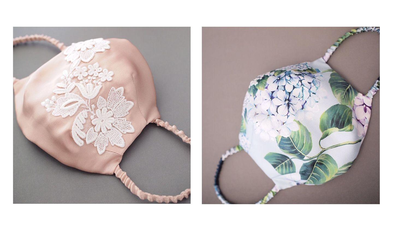熟練の職人が作る美しい縫製のシルクマスク