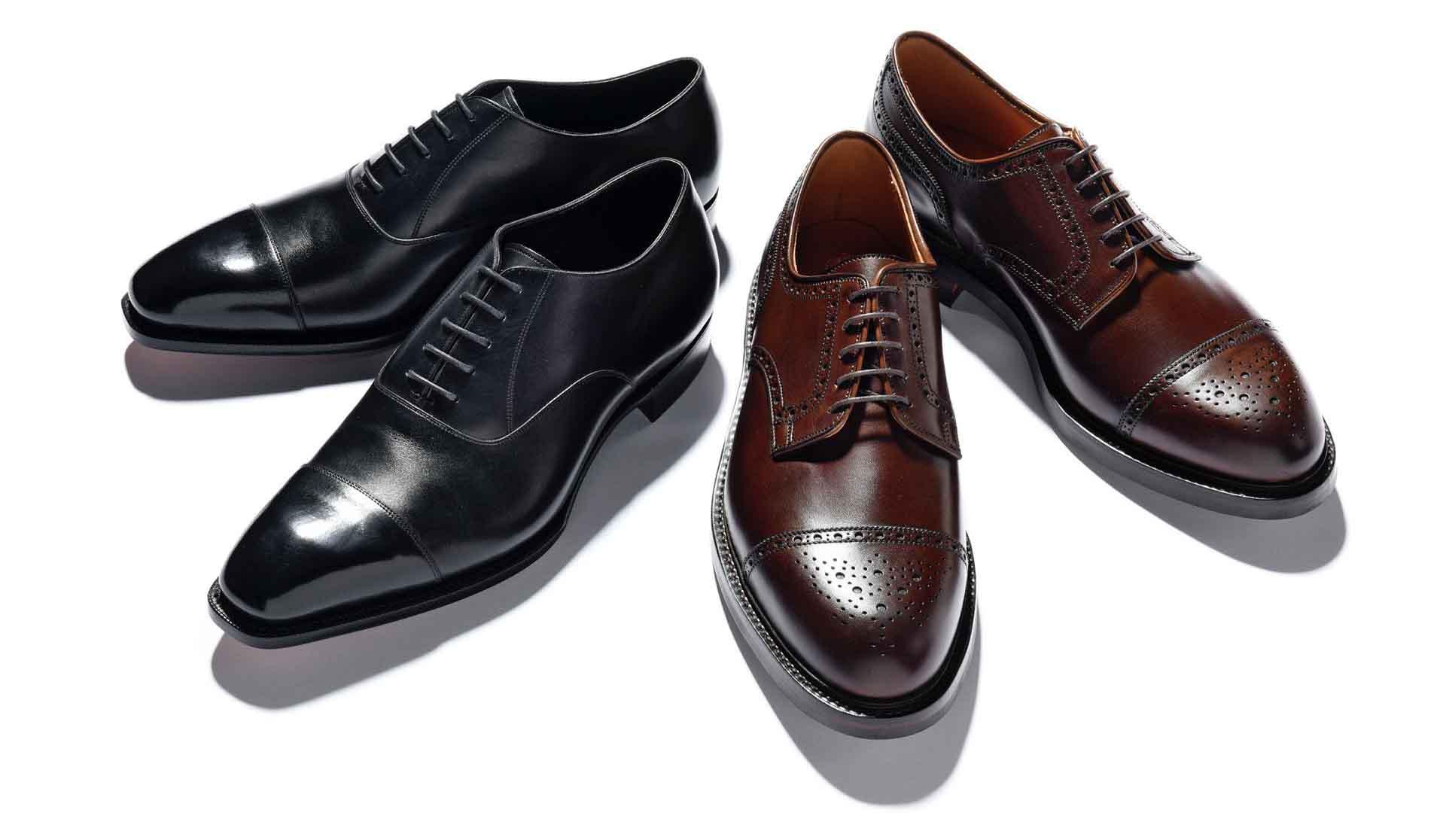 内羽と外羽根の靴