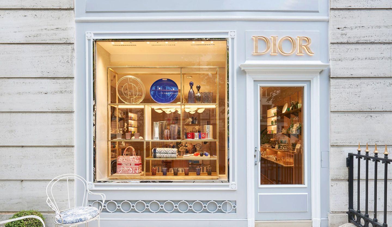 ディオールのホームコレクションのモンテーニュ通り店