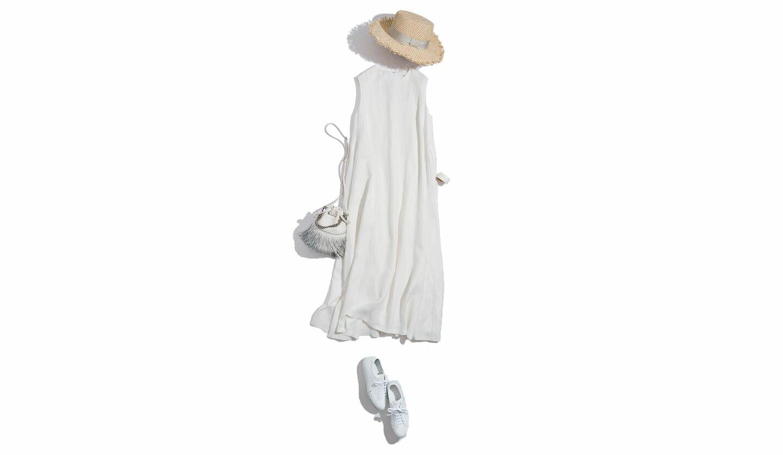 コモンプロジェクトの白スニーカーの着こなし