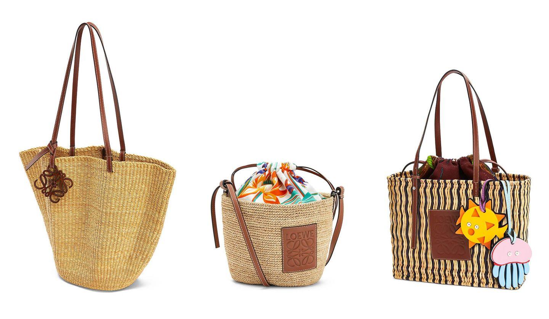 ロエベから発売される「パウラズ イビザ」コレクションの3タイプのかごバッグ