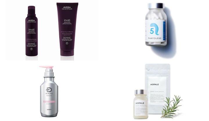 抜け毛や薄毛を予防するシャンプーやサプリメント
