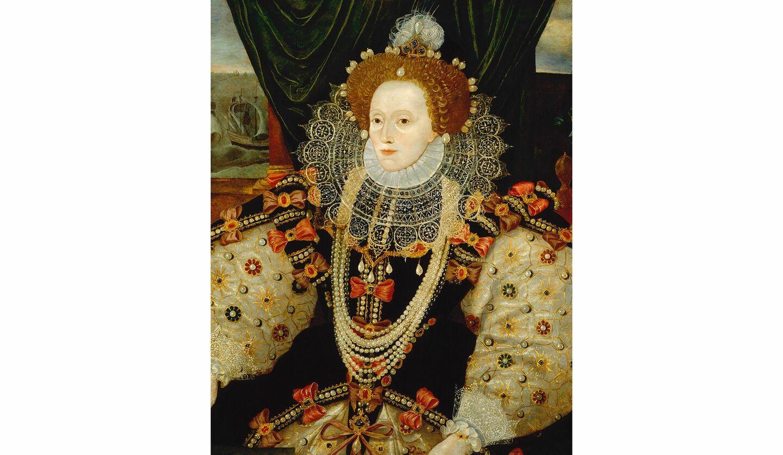 《エリザベス1世》 Queen Elizabeth I by Unknown English artist (ca.1588)  ©National Portrait Gallery