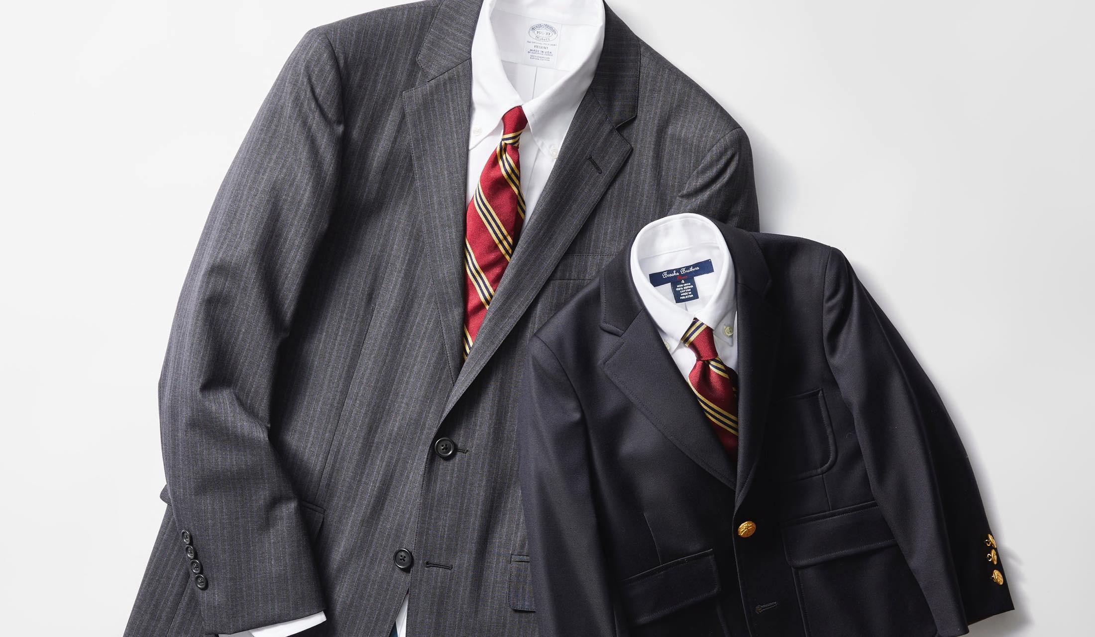 ブルックブラザーズのスーツと子供服