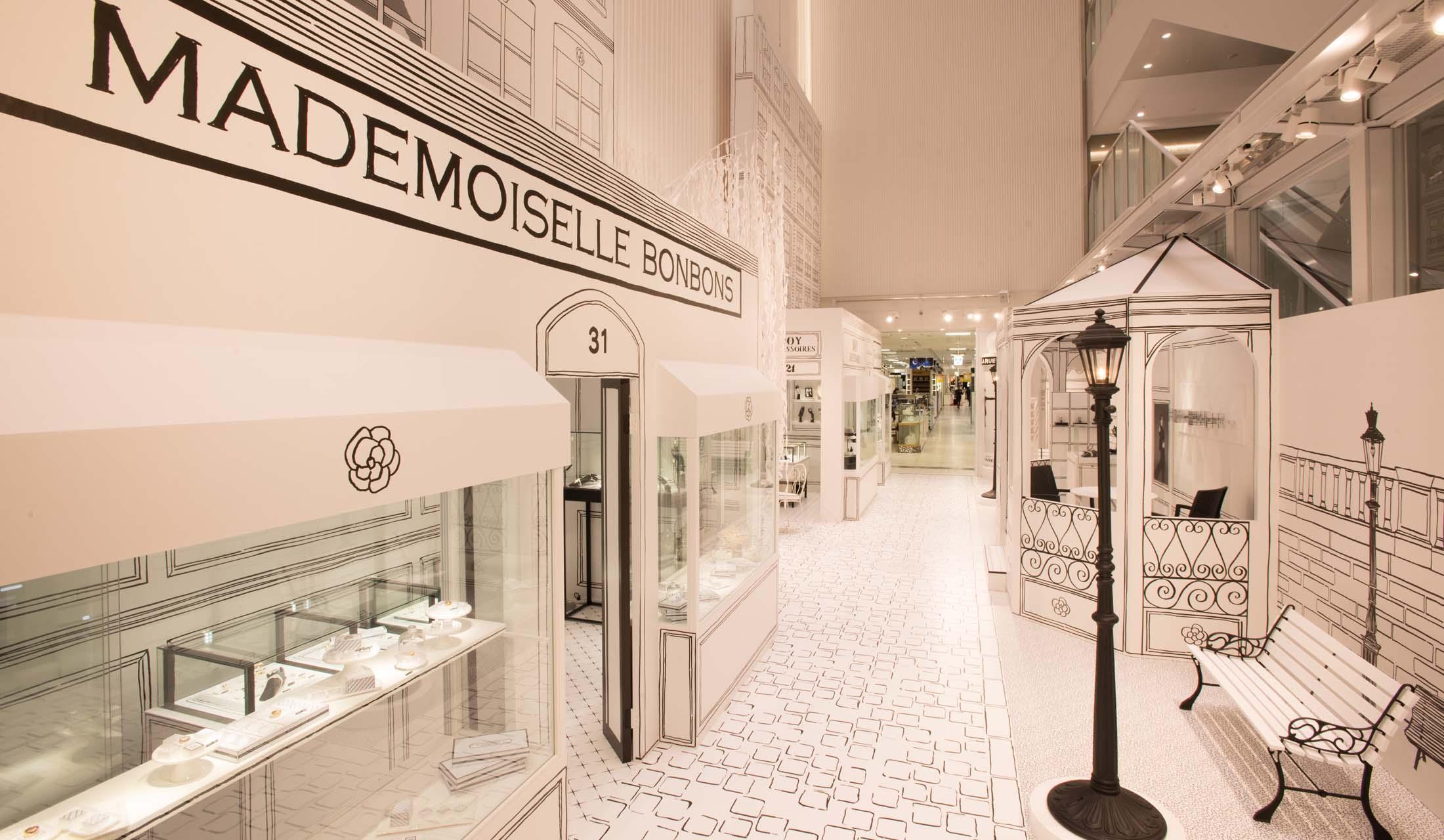 松屋銀座1階スペース・オブ・ギンザにて開催中のシャネルのポップアップイベント「La Rue de CHANEL」の模様