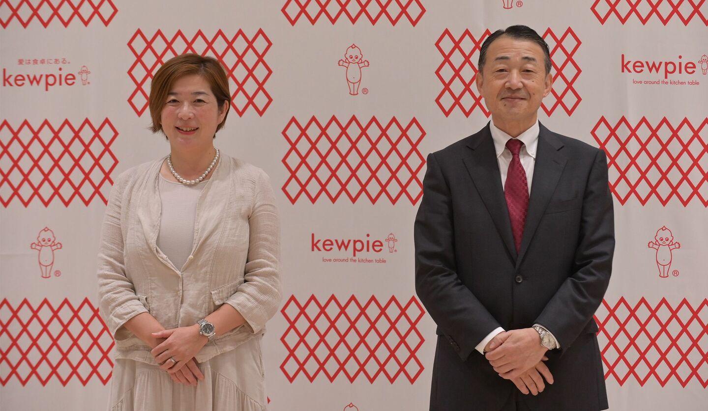 キユーピーの上席執行役員 藤原かおりさんと長南社長