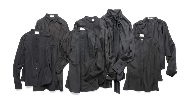 """着回しの効く上質な""""黒""""シャツ"""