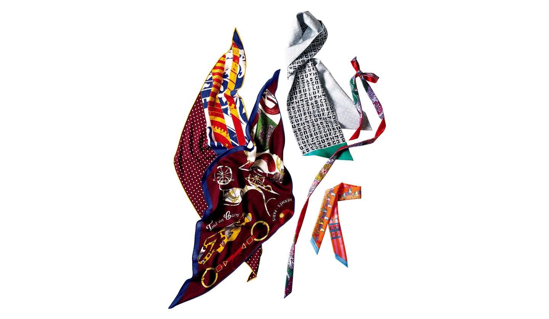 エルメスのスカーフ「ツイリー」と「ロザンジュ」
