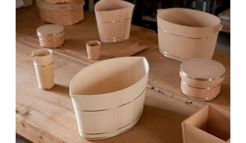 ドン・ペリニヨンも認める中川木工芸のシャンパンクーラーの写真。