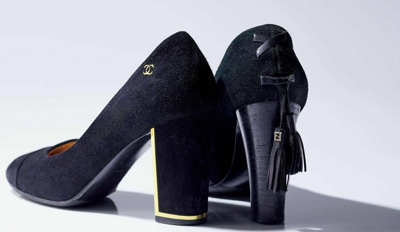 酒井由紀子さんの私物のチャンキーヒールのブランド靴