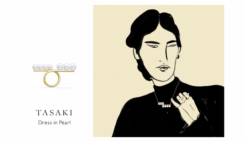 TASAKIが2020年12月1日(火)まで開催中のイベント「Dress in Pearl」のビジュアルイメージ