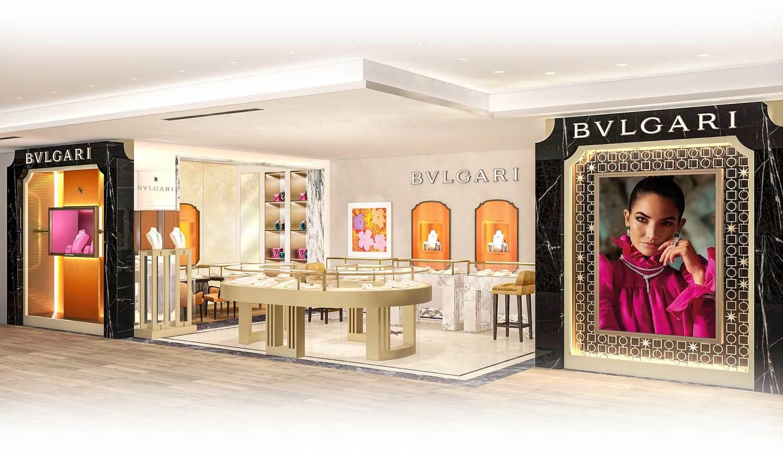 2021年3月18日(木)にリニューアルオープンするブルガリ銀座三越店の外観パース